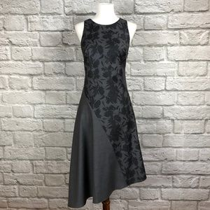 Banana Republic Grey Floral Asymmetrical Dress